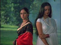 Jaya Bhaduri and Rekha Bollywood Stars, Indian Bollywood, Bollywood Fashion, Bollywood Celebrities, Bollywood Actress, Bollywood Hairstyles, Star Wars, Vintage Bollywood, Girls Time