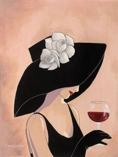 Lorraine Dell Wood Portfolio Catalog Painter Painting Illustration - Where Artist and Industry Meet Vintage Images, Vintage Posters, Wine Art, Lorraine, Female Art, Painting & Drawing, Fashion Art, Pop Art, Art Drawings