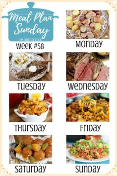 Meal Plan Sunday #58 recipes at The Country Cook