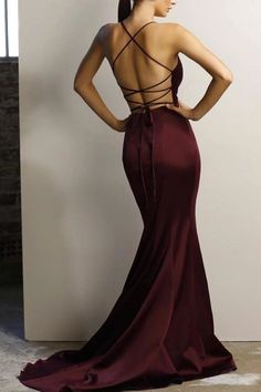 Open back prom dresses - Gorgeous Straps V Neck Mermaid Burgundy Long Evening Dress with Criss Cross Back – Open back prom dresses Grad Dresses Long, Open Back Prom Dresses, V Neck Prom Dresses, Mermaid Prom Dresses, Cheap Prom Dresses, Simple Dresses, Homecoming Dresses, Sexy Dresses, Evening Dresses