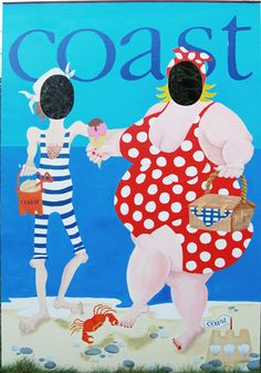 Funny seaside peep board, for Coast   Wedding photo prop