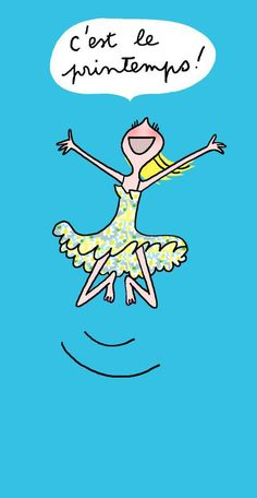 C'est le printemps!  Illustration: http://www.lesparesseuses.com/