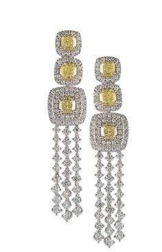 Classico:Opera | Digo Valenza Yellow and White Diamond Earrings ♥•♥•♥