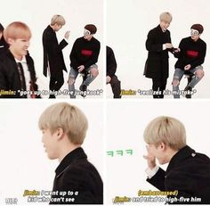 Jimin you are my bias so thank you for showing me that you are like me very dump when you want to touch your crush