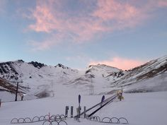 First tracks. #remarkables #newzealand #snow