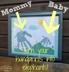 Orchard Girls: Mommy and Me - Elephant Handprint Art