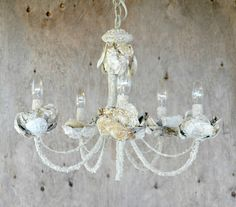 frugal farmhouse design: the $25 oyster shell chandelier experiment