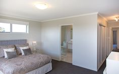 Gardner Home boasts a large master bedroom with lots of built in wardrobe space and a spacious ensuite. Spacious, Furniture, House, Master Bedroom, Space, Home, Ensuite, Built In Wardrobe, Home Decor