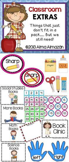 Classroom Extras  By Alma Almazan