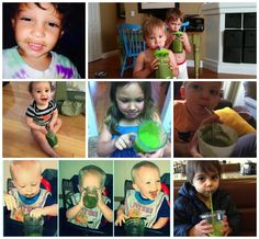 6 Tricks To Get Your Kids Hooked On Green Drinks - If these photos don't inspire you I don't know what will!