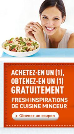 Coupon Cuisine Minceur 2 pour 1.  http://rienquedugratuit.ca/coupons/cuisine-minceur-2-pour-1/