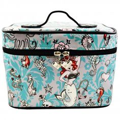 a5383016dc24 Fluff Molly Mermaid Pin Up Train Case Makeup Bag  45