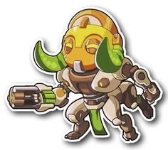 """""""I will keep you safe, that is my primary function!"""" Enjoy this New tall Spray of Orisa, the newest Overwatch character, in sticker FORM! Chibi Overwatch, Overwatch Comic, Overwatch Birthday, Nicu, Cartoon Styles, Funny Comics, Pixel Art, Game Art, Bowser"""