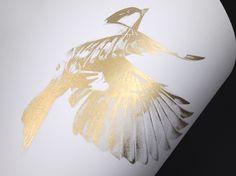 Bird 18 Gold Screen Print