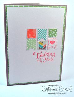 Clean and Simple with Banner Blast and Sweet Sorbet DSP by Catherine Carroll UK Independent Stampin' Up! Demonstrator