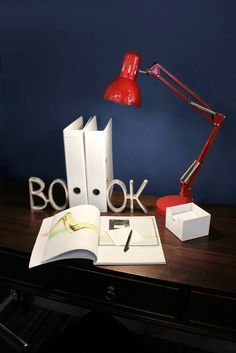 Red Study Lamp | http://www.eurolux.co.za/fittingsproductdetail.php?fit_id=1984&opt_id=3307&tag_id=2