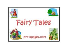 Cute Fiary Tales printables! - Goldilocks, The Gingerbread Man, Jack & the Beanstalk, Little Red Hen, Little Red Riding Hood, Three Little Pigs!