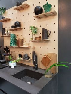 Executed by Platform Creative Agency with Laurence Brick and Cathy O'Clery - Decorex Cape Town 2016 Dining Rooms, Kitchen Dining, Cape Town, Floating Shelves, Shelving, Brick, Kitchens, Container, Platform