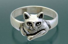 sterling Cat Ring designed in memory of rescue kitty Moonpie, by SheppardHillDesigns on Etsy