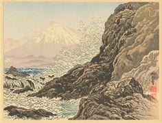 Jokata Kaiseki (b. 1882) - Mt Fuji From Enoshima