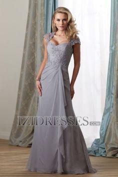 Mother of the Bride Sheath/Column Square Chiffon Lace Dress - IZIDRESSES.COM