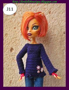 Jersey para muñecas Monster. (high quality) distintos modelos a escoger de Fordollsboutique en Etsy