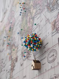 Ballon Pin House von CliveRoddy auf Etsy Beautiful Quirky Home Office Accessories