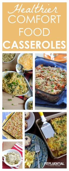 Healthier Comfort Food Casseroles - need a healthy dinner recipe that also hits the spot for your comfort food needs? Try these better for you casserole recipes for a meal that satisfies without the guilt or regret. Options with chicken and quinoa.