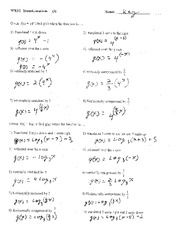 Solving Quadratic Equations By Factoring Worksheet Kuta