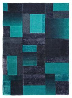 Dégradés de bleus. Tapis acrylique et viscose. En 120 x 180 cm, 329 €. City glam. Esprit Home. Un Amour de Tapis.