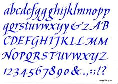 My Calligraphy Blog: Two Italic Calligraphy Alphabets (2008)
