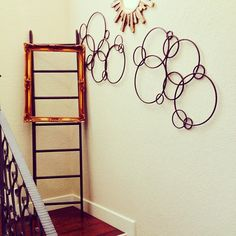 DIY Home Decor Project | Restyle & Restore | Ladder & Ornate Frame by #LifestyleDesign http://byLifestyleDesign.com #DIY #Home #Decor