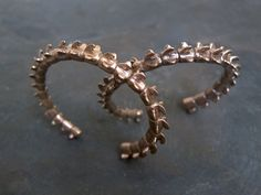 Hand Carved Spine Cuff Bracelet in Bronze by coreyegan on Etsy, $276.00