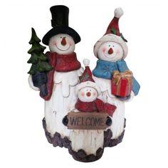 #christmassnowmanfamilyfigurine #winterdecorations #seasonaldecor #christmassnowman 10 inch Table Statuary