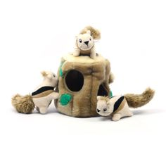 20% cut off Plush Puppies Hide-A-Squirrel Pet Toy, Large