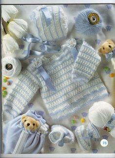 suéter del bebé y el patrón de sombrero
