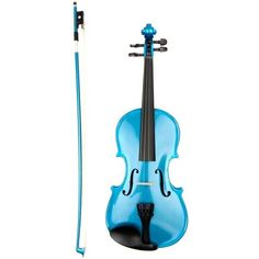 (54) Metallic Blue Violin and bow by Archetto | Blue | Pinterest ❤ liked on Polyvore featuring music