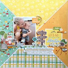 #papercrafting #scrapbooking #layouts - by Kristine D.