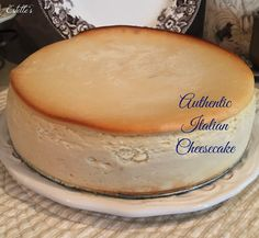 I have always wanted to make an authentic Italian Cheesecake.Rob was coming home for a little mini-vacation and requested my famous spaghetti.So, along with baking a loaf of Mother's Dilly Bread,I add