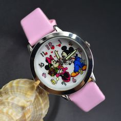 Pink Minnie & Micky Mouse Leather Wrist Watch Lady Girl Women Teen Kids Watch 8 #unbranded #Casual