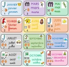 Preschool Writing, Preschool Learning Activities, Fun Activities For Kids, Teaching Kids, Basic French Words, French Phrases, French Language Lessons, French Lessons, French Classroom Decor