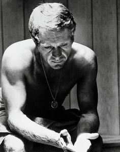 I LOVE this image of Steve McQueen ... it not only shows true male beauty of a man that liked to stay active & fit, but I really liked him as a man, at least as far as you can know someone like this. He wasn't a wuss or a prima donna, he seemed to be a down to earth guy that enjoyed life to the fullest which is exactly what a MAN is supposed to be & do. So I've just gotta LOVE Steve!
