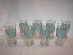 Royal China - Blue Heaven - Highball Glasses for Tableware log.
