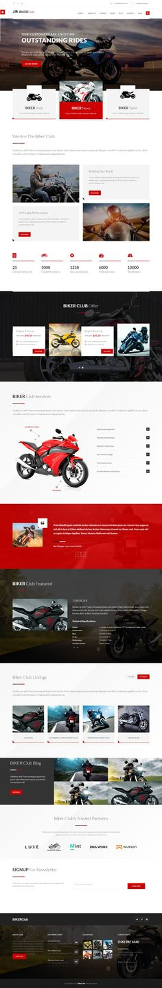 Biker Club WordPress theme is Multipurpose and specially build for Bikes / #Motorcycle Owners, #Bikes Clubs or any kind of #automobile industry and businesses #website.