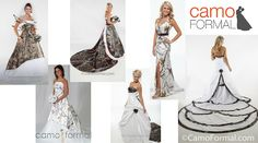 Spend one of your most special and memorable days wearing what you love - CAMO! Here's a list of places to buy awesome camo wedding dresses! Redneck Wedding Dresses, Pretty Wedding Dresses, Country Wedding Dresses, Wedding Ideas To Make, Wedding Stuff, Camouflage Wedding, Country Style Wedding, Bridal Collection, Bridal Gowns