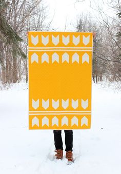 Unisex Baby Quilt / Toddler Quilt Orange and by MelissaHevey, $180.00