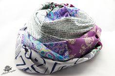 Rundschal Loop Loopschal lila weiß grau von Lieblingsmanufaktur: Dein Patchwork - Lieblingsstück für den Alltag auf DaWanda.com