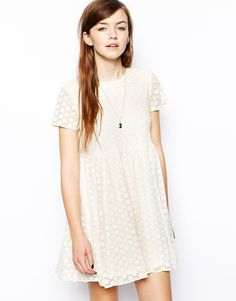 ASOS Dress With Daisy Embroidery