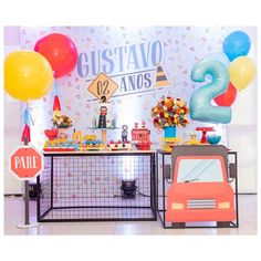 Baby Birthday Decorations, Baby Boy 1st Birthday Party, Toy Chest, Instagram, Ideas, Cars And Trucks, House Party, Girl Room Decor, Decorating Rooms