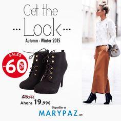 SALES UP TO -60% DTO. ►►► REBAJAS con hasta el 60% dto. en muchos de nuestros artículos en TIENDA y ONLINE www.marypaz.com ¡ Viste como una blogger y demuestra tu lado más cool ! #rebajasmarypaz #shoponline   Compra ya este BOTÍN REBAJADO buscándolo bajo la referencia ► http://www.marypaz.com/tienda-online/botin-de-tacon-y-plataforma-oculta-con-cordones-53705.html?sku=72851-35